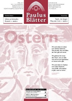 Titelbild Paulusblätter April 2019